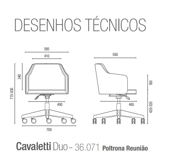 Cavaletti Duo  36071 Poltrona Reunião