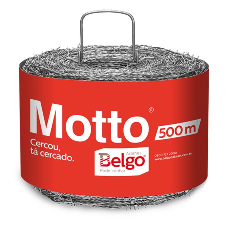 ARAME FARPADO MOTTO BELGO - RL 500 M
