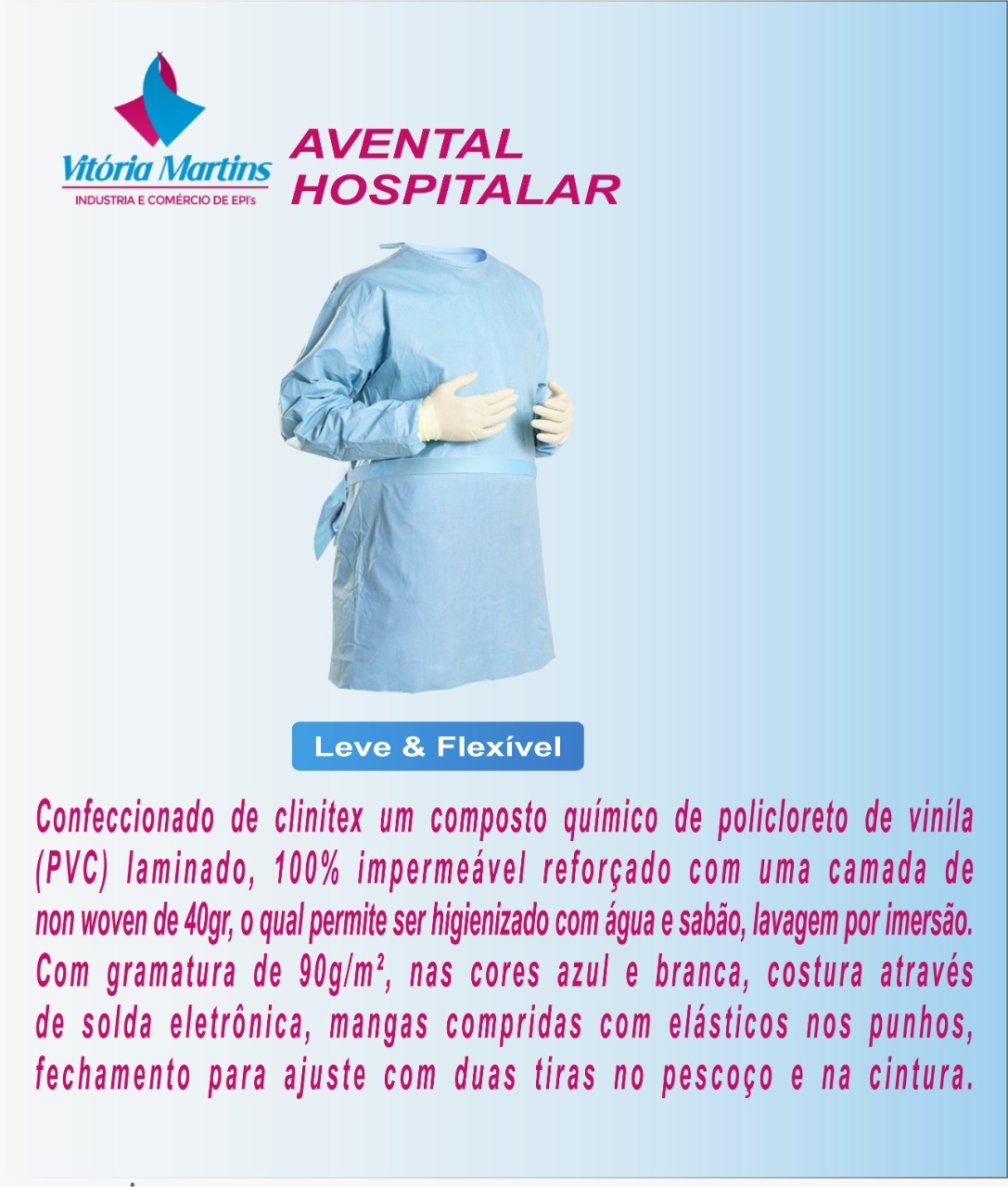 AVENTAL HOSPITALAR
