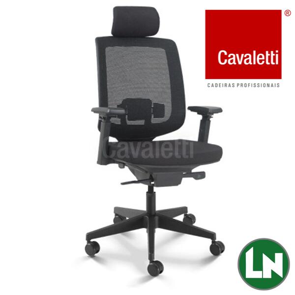 Cadeira Cavaletti Giratória Presidente C3 28001 AC Syncron Braços 4D