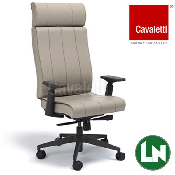 Cavaletti Essence - Presidente Giratória 20501 Syncron RP Braços 4D Nylon