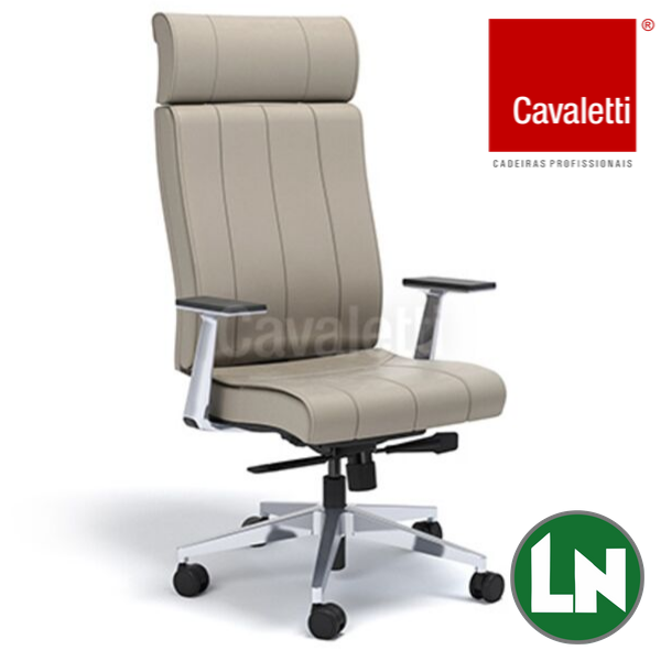 Cavaletti Essence - Presidente Giratória 20501 Syncron RP Braços Fixos Alumínio