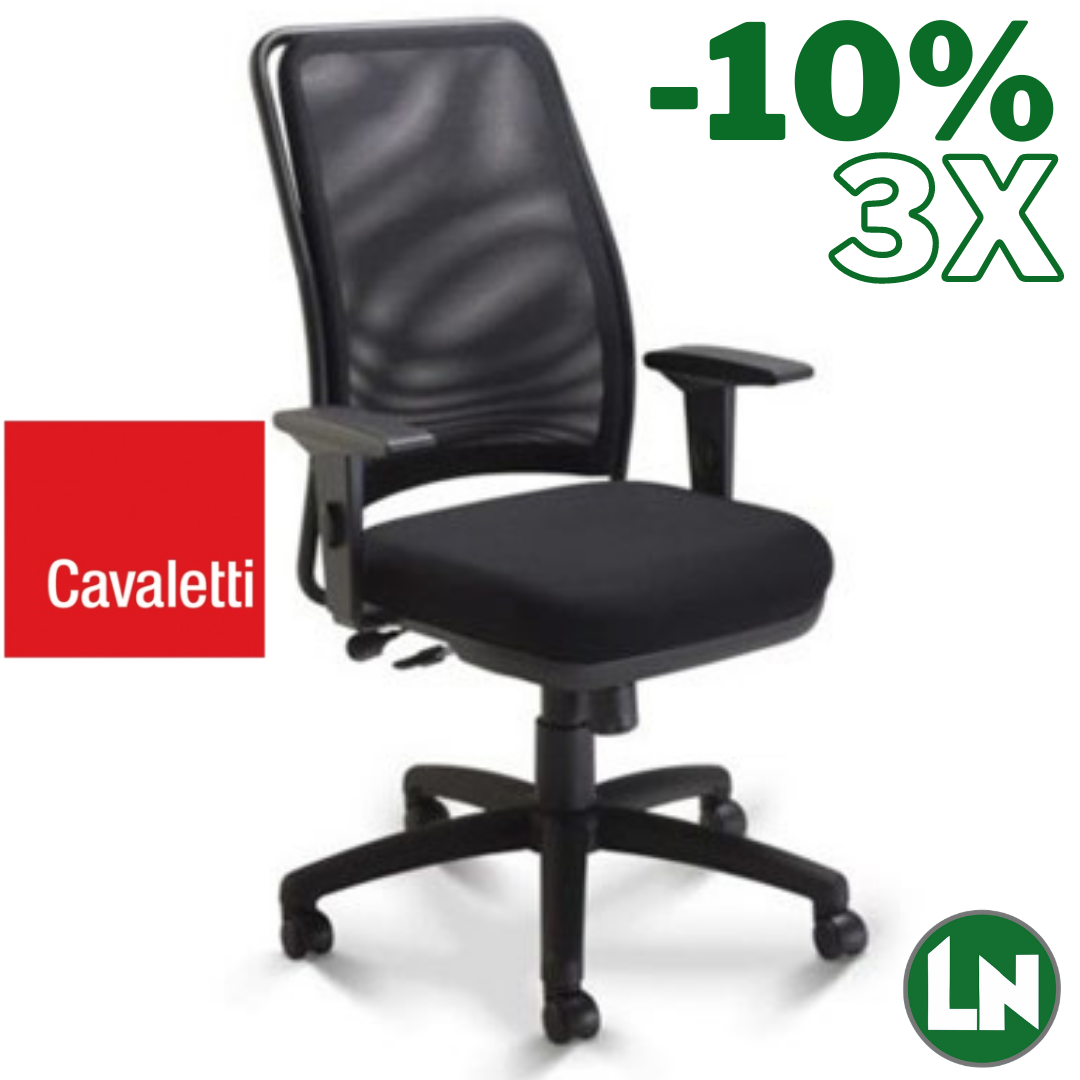 Cavaletti NewNet 16001-Syncron All Black Home Office [Entrega Rápida]