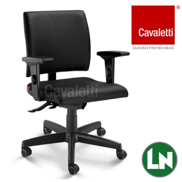 Cavaletti Slim - Poltrona Secretária Giratória 18004 SRE SL Base em Polaina