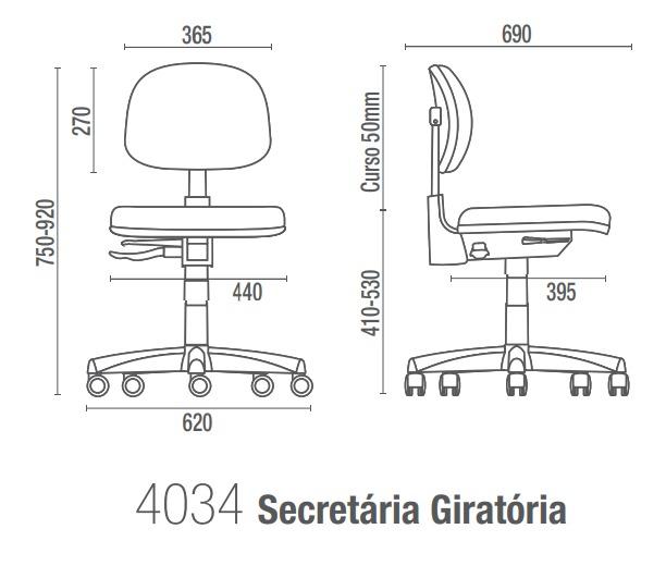 Cavaletti Start 4034 Desenho Técnico