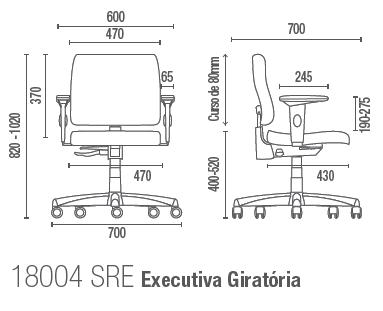 Slim 18004 SRE Executiva Giratória