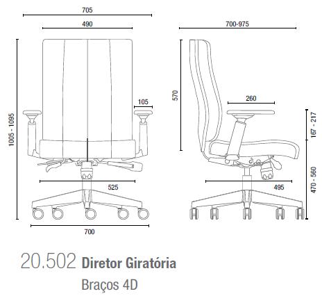 Essence 20502 Diretor Giratória Bracos 4D
