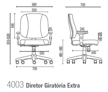 Start 4003 Diretor Executiva Extra - Suporta até 140KG
