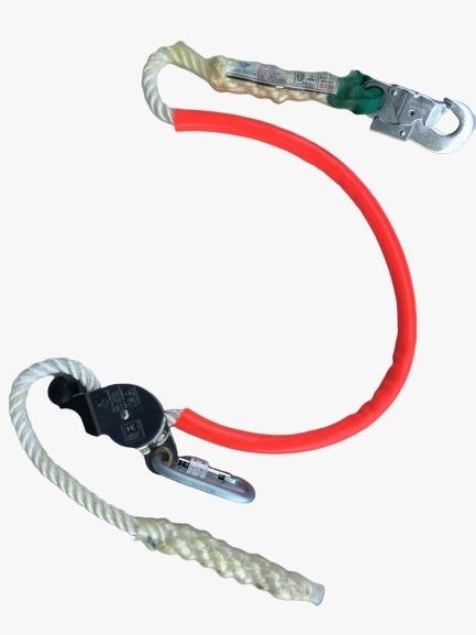 Talabarte posicionamento em corda  trançada com regulador distância